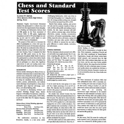 Chess and SAT's, page 1