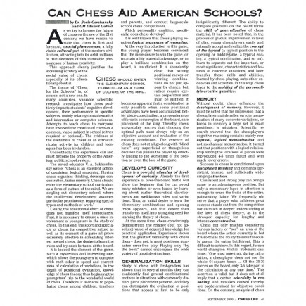Can Chess Aid American Schools, page 1