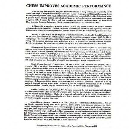 Chess Improves Academic Performance