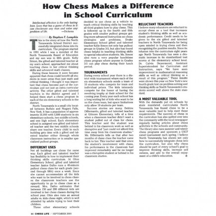 How Chess Makes a Difference in School Curriculum